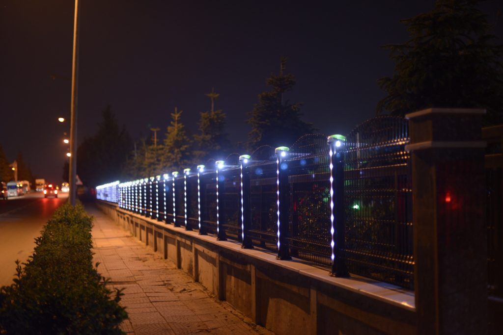 Solar Lighting Fence Post